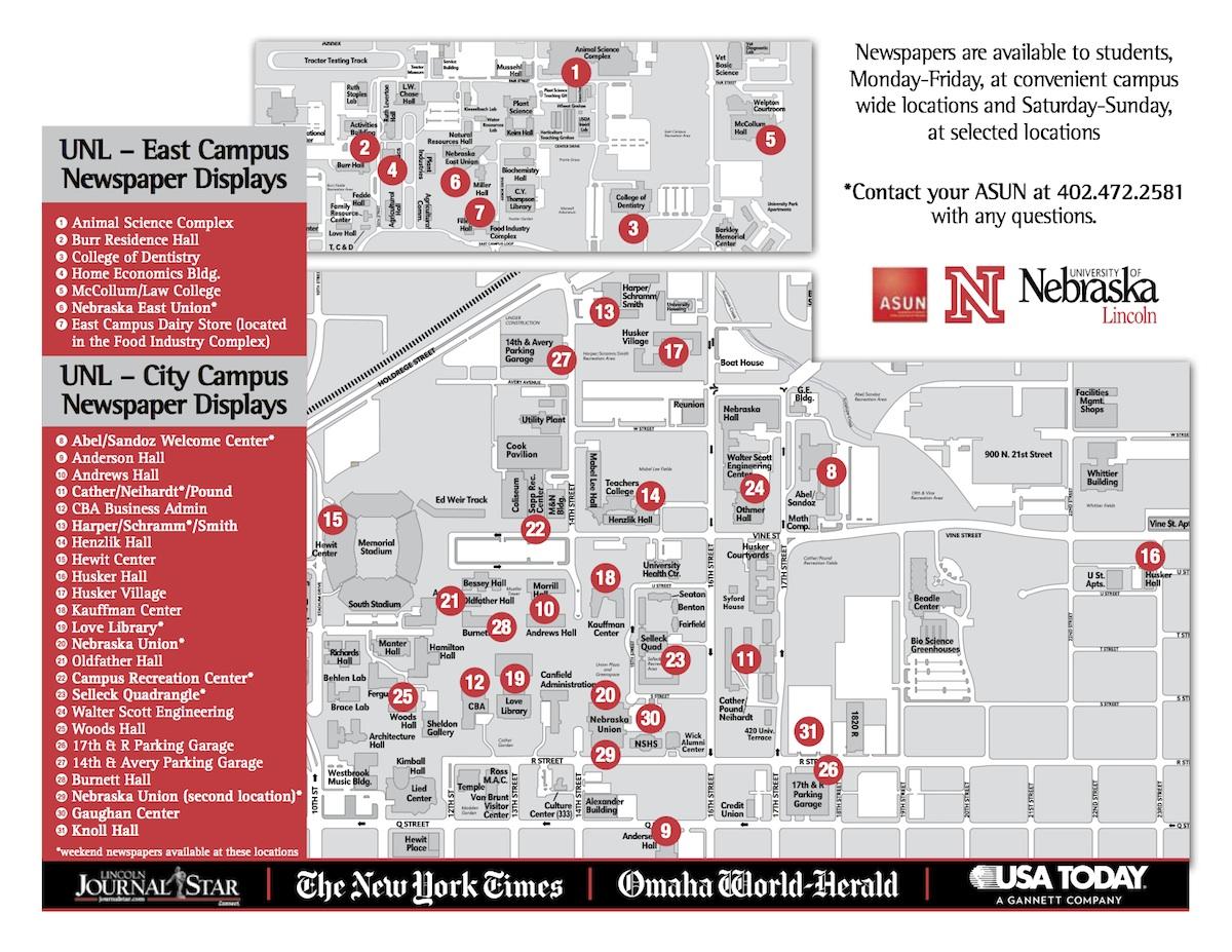 Newspaper Readership Program Asun Student Government University Of Nebraska Lincoln
